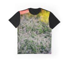 Cobwebs and Dew Drops Graphic T-Shirt