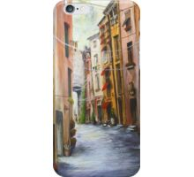 Whitecat Lane, Sienna Italy.   iPhone Case/Skin