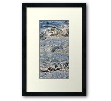 Splishy Splash of a foamy Momenary Water Sculpture Framed Print