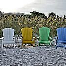 Beach Chairs on The Sand by Jeff Ore