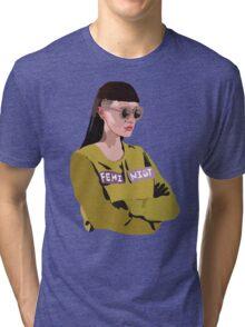 Feminist (Purple) Tri-blend T-Shirt