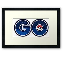 Pokemon GO letters Framed Print