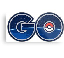 Pokemon GO letters Metal Print