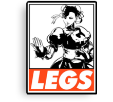 Chun-Li Legs Obey Design Canvas Print