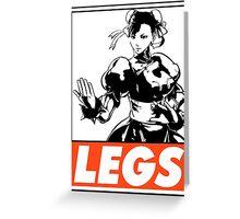 Chun-Li Legs Obey Design Greeting Card