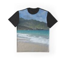 Clouds, Mountains and Ocean Graphic T-Shirt