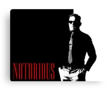 Conor McGregor - Notorious (Scarface Design) Canvas Print