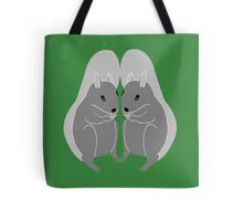 Grey Squirrels Design by Kat Worth Tote Bag