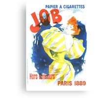 Vintage Jules Cheret Cigarette Advertising 1889 Canvas Print