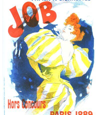 Vintage Jules Cheret Cigarette Advertising 1889 Sticker