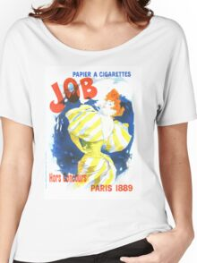 Vintage Jules Cheret Cigarette Advertising 1889 Women's Relaxed Fit T-Shirt