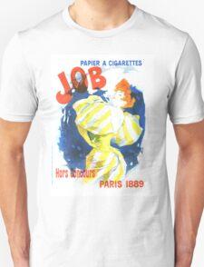 Vintage Jules Cheret Cigarette Advertising 1889 Unisex T-Shirt