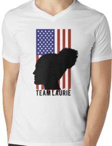 TEAM LAURIE Mens V-Neck T-Shirt