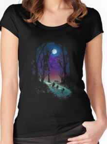 Stranger in the Woods Women's Fitted Scoop T-Shirt