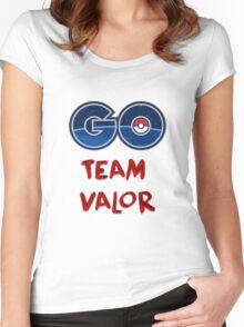 GO Team Valor - Pokemon Go Women's Fitted Scoop T-Shirt