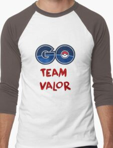 GO Team Valor - Pokemon Go Men's Baseball ¾ T-Shirt