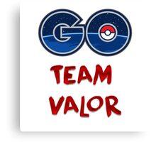 GO Team Valor - Pokemon Go Canvas Print