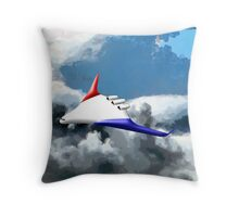 Blended Wing Aircraft - pillow & tote Throw Pillow