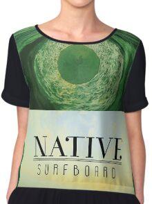 Native Surfboard Chiffon Top