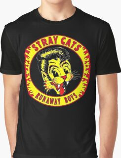 Stray Cats  (Runaway Boys) Colour Graphic T-Shirt