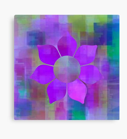 Violet Flower Power - Maps & Apps Series Canvas Print