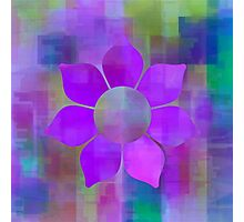 Violet Flower Power - Maps & Apps Series Photographic Print