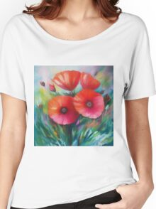 Expressionist Poppies Women's Relaxed Fit T-Shirt