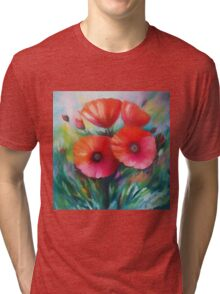 Expressionist Poppies Tri-blend T-Shirt