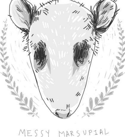 Messy Marsupial Sticker
