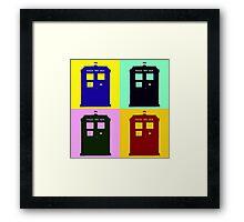 TARDIS Pop Art Framed Print