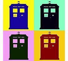 TARDIS Pop Art Photographic Print