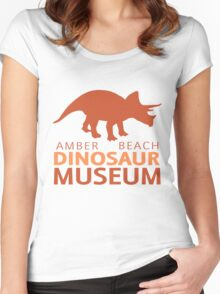 Amber Beach Dinos Women's Fitted Scoop T-Shirt
