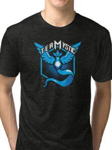 Pokemon Go   Team Mystic Design  Black Background   New!   High Quality! Tri-blend T-Shirt