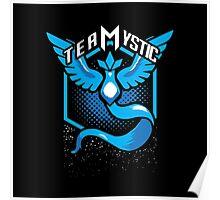Pokemon Go   Team Mystic Design  Black Background   New!   High Quality! Poster