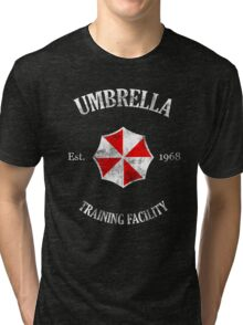 Umbrella Training Facility Vintage Resident Evil (for dark colors) Tri-blend T-Shirt
