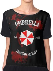 Umbrella Training Facility Vintage Resident Evil (for dark colors) Chiffon Top