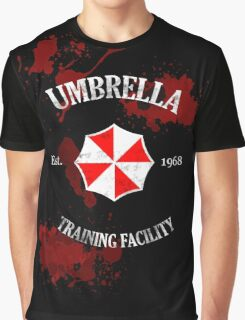 Umbrella Training Facility Vintage Resident Evil (for dark colors) Graphic T-Shirt