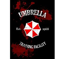 Umbrella Training Facility Vintage Resident Evil (for dark colors) Photographic Print
