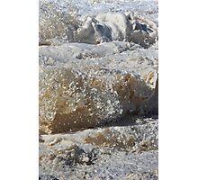 Wavey Frothy Frozen Foam Frozen Sculpture Photographic Print