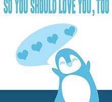 Penguin Love by cheyannedawn