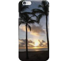 Majestic Palm trees against the morning sun iPhone Case/Skin