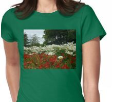 Lilies and Daisies - Preston Temple Grounds Womens Fitted T-Shirt