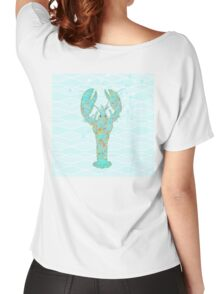 Leonardo Lobster amidst the ocean waves Women's Relaxed Fit T-Shirt