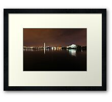 Jefferson and Washington Memorials pre dawn Framed Print