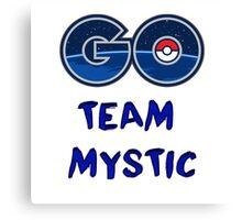 GO Team Mystic - Pokemon Go Canvas Print