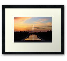 Sunrise from the Lincoln Memorial in DC Framed Print