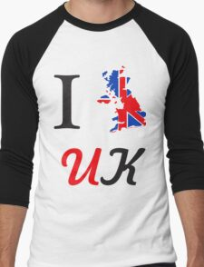 I Love England Men's Baseball ¾ T-Shirt