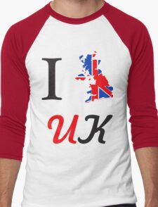 I Love England Men's Baseball ¾ T-Shirt