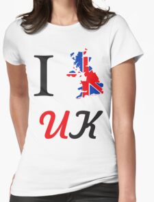 I Love England Womens Fitted T-Shirt