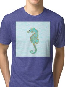 Stanley Seahorse riding the ocean waves Tri-blend T-Shirt